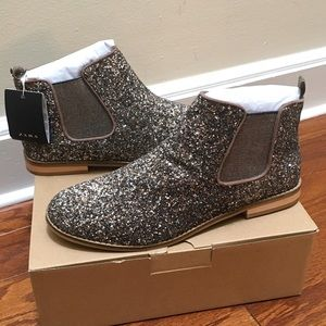 Zara Glitter Ankle Boots